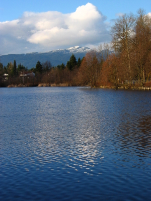 Como Lake in Coquitlam B.C.