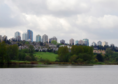 View of Burnaby B.C.